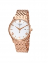 Tradition Silver Dial Rose Gold PVD Men's Watch