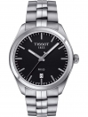 Tissot 39mm stainless steel case with black dial