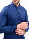 ROYAL BLUE SELF KURTA SHALWAR SLIM FIT