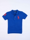 Toddlers / Kids - Cotton Mesh Polo Shirt - Blue