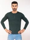 Jade Green Henley Full Sleeve T-shirt for Men