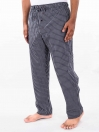 Black & White Check Cotton Blend Relaxed Pajamas