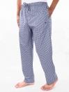 Navy & White Cotton Blend Relaxed Pajamas