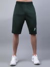 FIREOX Green & Teal Polyester Active Fit Shorts for Men