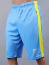 Sky Blue/Yellow Active Fit Men's Shorts