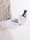 Women Smartphone Touchscreen & Driving Gloves White 2 Pairs Pack