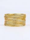 Gold Diaphanous Aluminium Bangles for Women