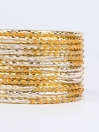 Yellow Diaphanous Aluminium Bangles for Women