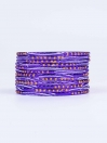 Dark Blue Diaphanous Aluminium Bangles for Women