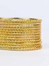 Yellow Ornate Aluminium Bangles for Women