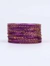 Purple Ornate Aluminium Bangles for Women