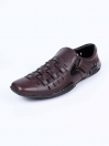 Maroon Leather Casual Roman Sandal For Men