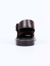 Coffee Brown Leather Formal Sandal For Men