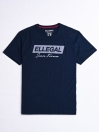 SF Flock Norwich Navy Cotton Tee Shirt