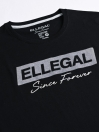 SF Flock Hash Black Cotton Tee Shirt