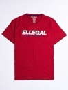 SF Applique Burgundy Cotton Tee Shirt