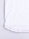 Cally Round Bottom Cotton Tee Shirt - White Burgundy