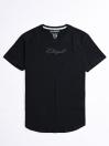 Cally Round Bottom Cotton Tee Shirt - Hash Black