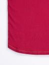 Cally Round Bottom Cotton Tee Shirt - Burgundy