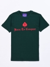 BORN TO CONQUER  CREW NECK T SHIRT