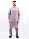 Men Magenta Straight Kurta Pajama