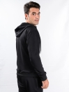 Men's Black Hooded Sweat Suits