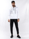 White/Black Hooded Sweat Suits