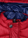 Red & Blue Kids sleeveless Puffer Jacket With Hood