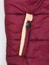 Burgundy Kids sleeveless Puffer Jacket With Hood