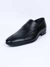 Men Black Premium Penny Loafer Shoes