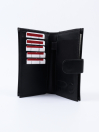 Executive Leather Double Mobile Wallet Black