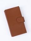 Executive Leather Double Mobile Wallet Tan