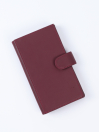 Executive Leather Double Mobile Wallet Burgundy