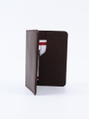 Executive Leather Card Holder Brown