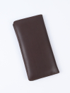 Executive Leather Long Wallet Brown