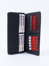 Executive Leather Long Wallet Grey