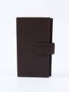 Executive Leather Single Mobile Wallet Brown