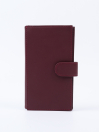 Executive Leather Single Mobile Wallet Burgundy