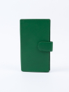 Executive Leather Single Mobile Wallet Green