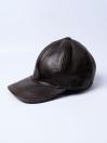 Men's Brown Vintage Adjustable SheepLeather  Cap