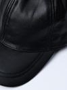 Men's Black Vintage Adjustable SheepLeather  Cap