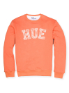Men Orange Fleece Sweatshirt