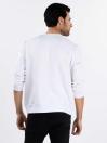 Men White Fleece Sweatshirt