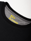 Men Black Terry Solid Sweatshirt