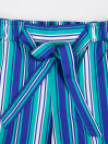 Girls' Relaxed Woven Trousers Blue & White