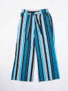 Girls' Relaxed Woven Trousers Blue & Black