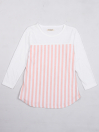 Jazzy Girls' Party Dress, Full Sleeve Pink & White