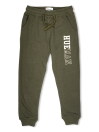 Little Boys Olive Terry Slim Joggers
