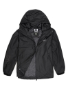 Men Windbreaker Mid Length Jacket with Mesh lining Black
