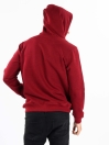 Men Burgundy Fleece Hooded Sweatshirt